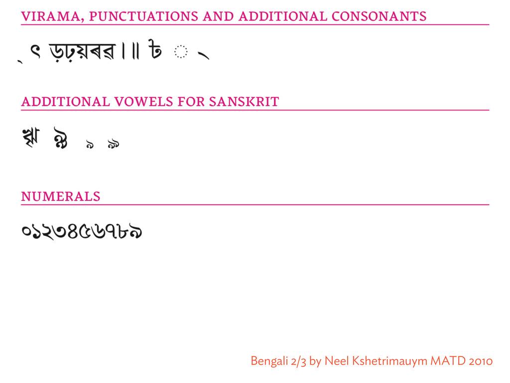Bengali 2/3 by Neel Kshetrimauym MATD 2010