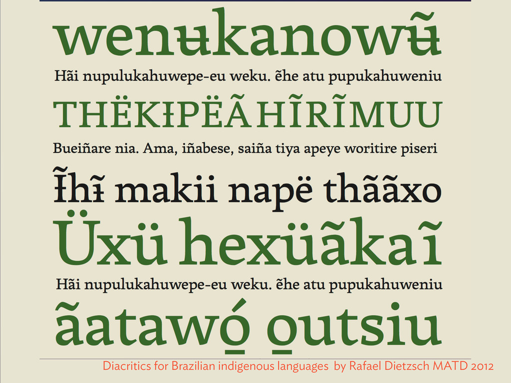 Diacritics for Brazilian indigenous languages b...