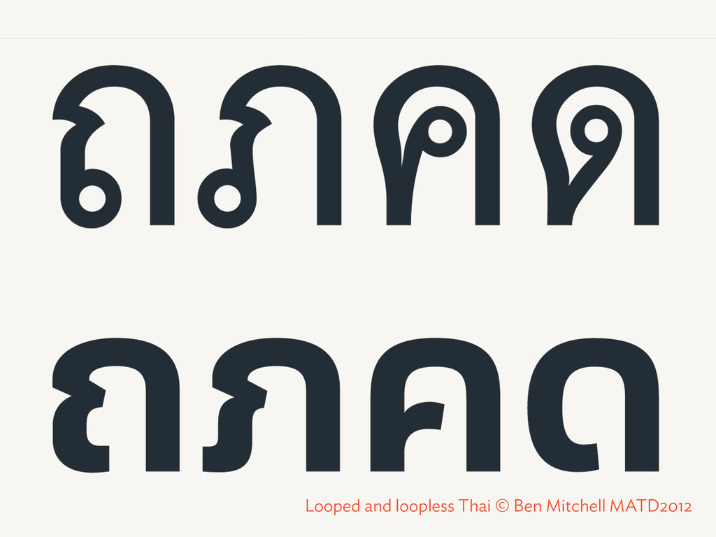 Looped and loopless Thai © Ben Mitchell MATD2012