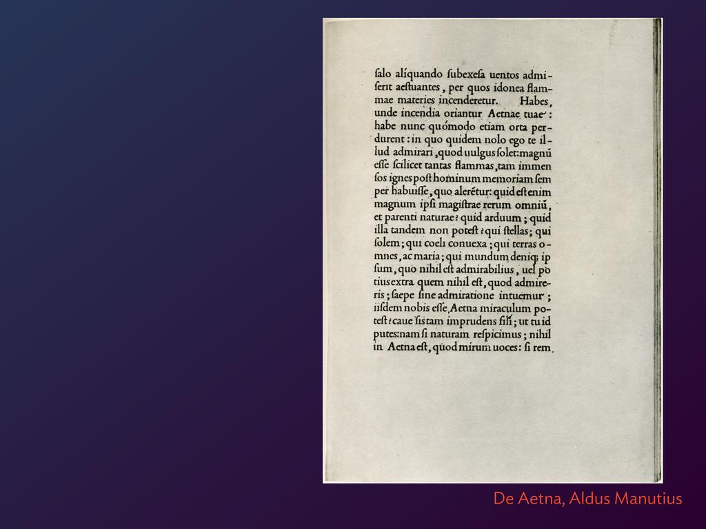 De Aetna, Aldus Manutius