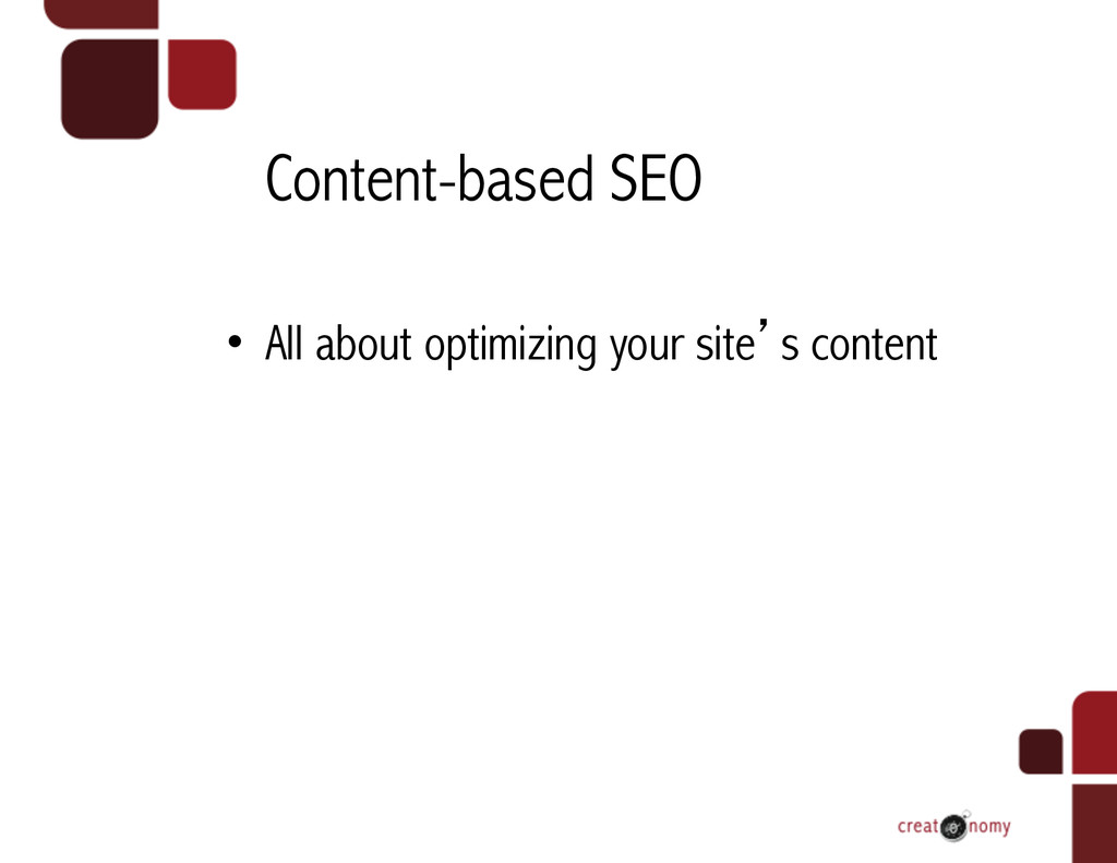 Content-based SEO • All about optimizing your ...