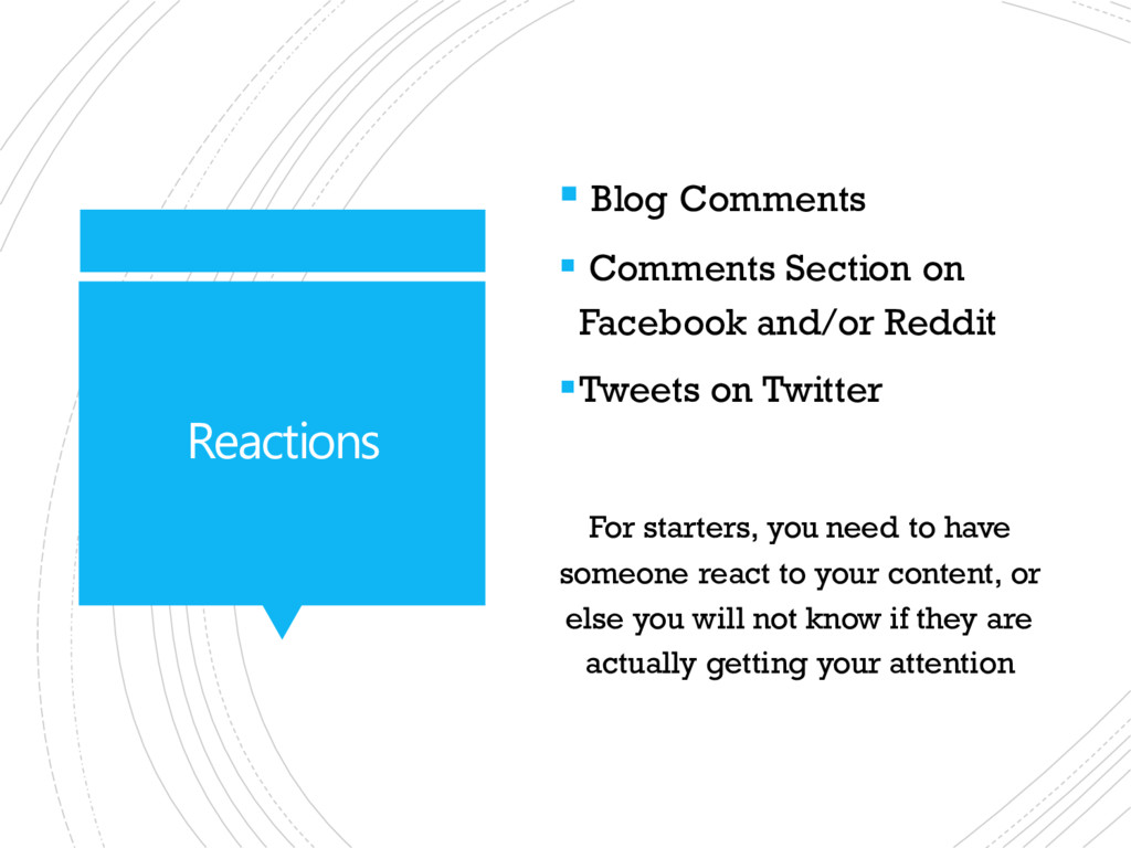Reactions  Blog Comments  Comments Section on...