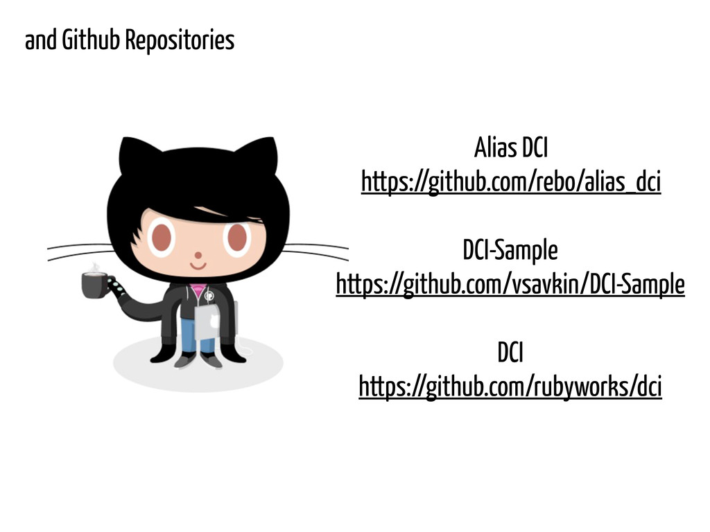 and Github Repositories Alias DCI https://githu...