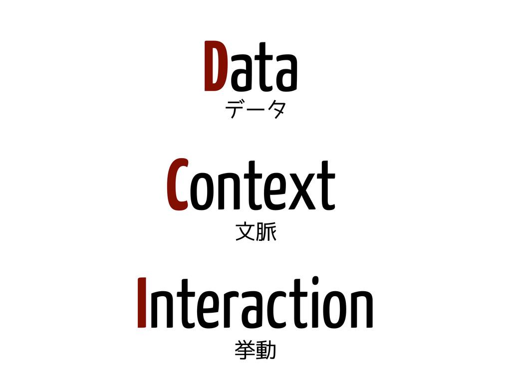 Data Context Interaction データ 文脈 挙動