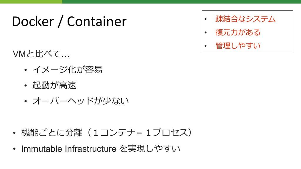 Docker / Container VM7… • %- 4= • 8/ *; •...