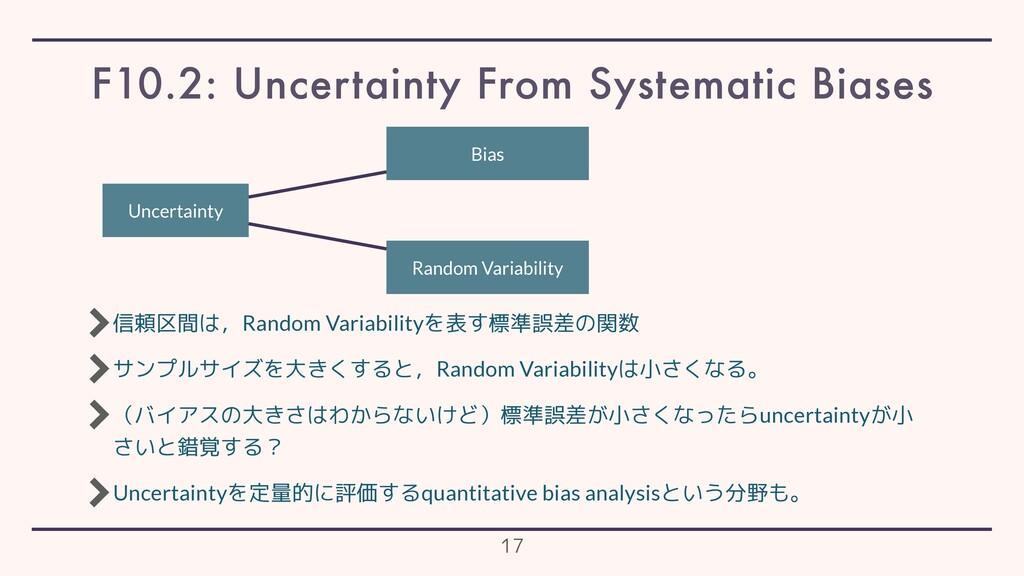 信頼区間は,Random Variabilityを表す標準誤差の関数 サンプルサイズを大きくす...
