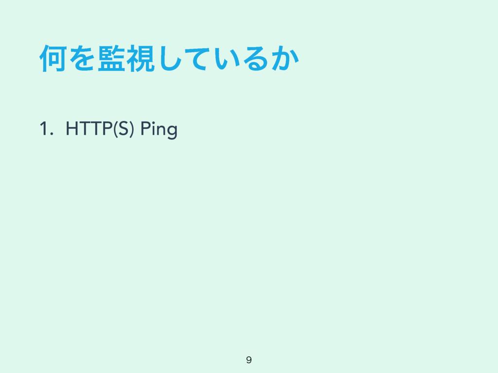 ԿΛࢹ͍ͯ͠Δ͔ 1. HTTP(S) Ping