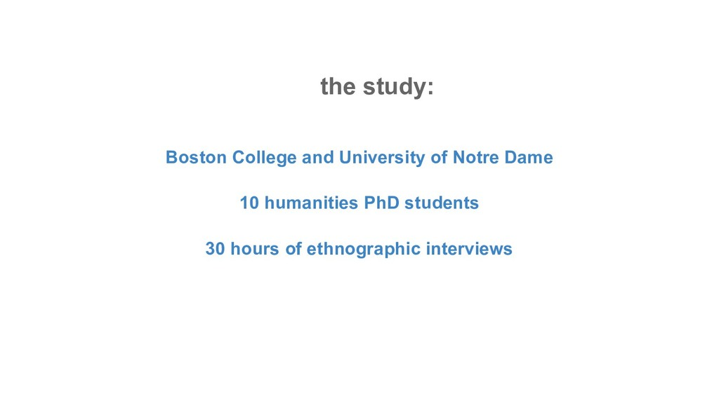 the study: Boston College and University of Not...