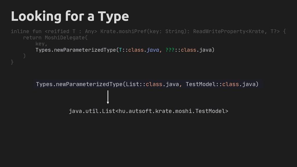 Types.newParameterizedType(List::class.java, Te...