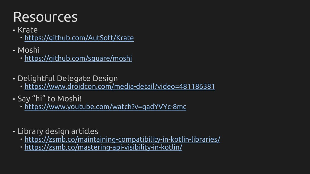 Resources • Krate  https://github.com/AutSoft/...