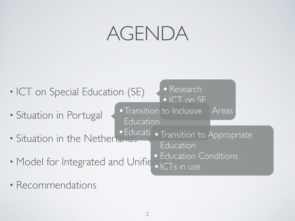 AGENDA • ICT on Special Education (SE) • Situat...