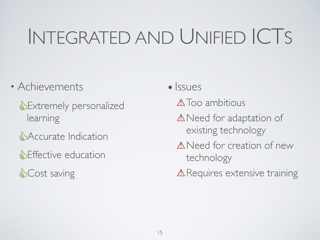 INTEGRATED AND UNIFIED ICTS • Achievements Extr...
