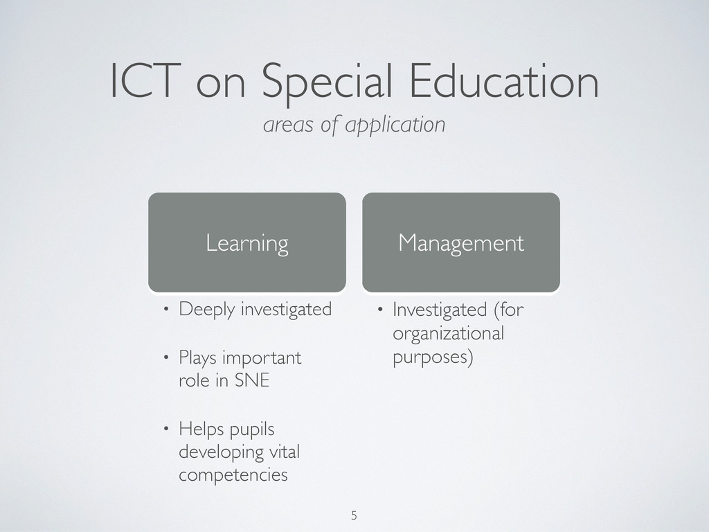 ICT on Special Education Learning Management • ...