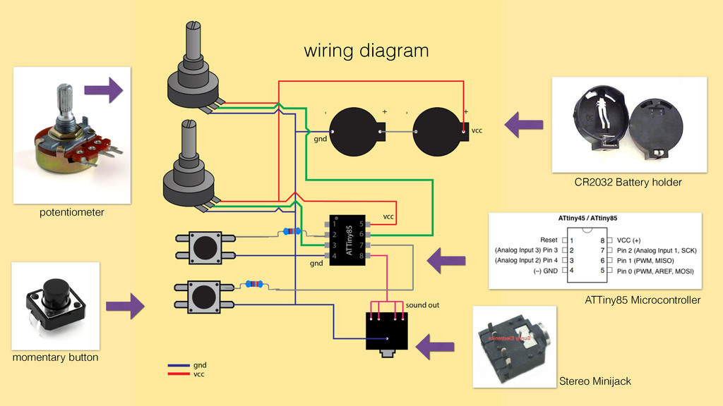 wiring diagram potentiometer momentary button C...