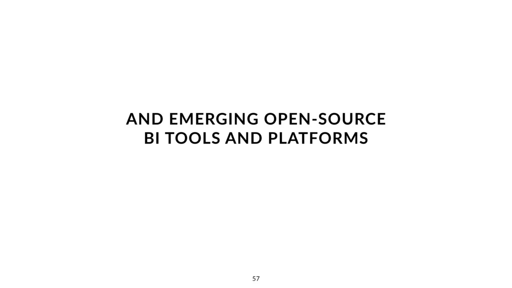 AND EMERGING OPEN-SOURCE