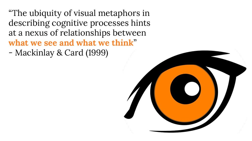 """The ubiquity of visual metaphors in describing..."