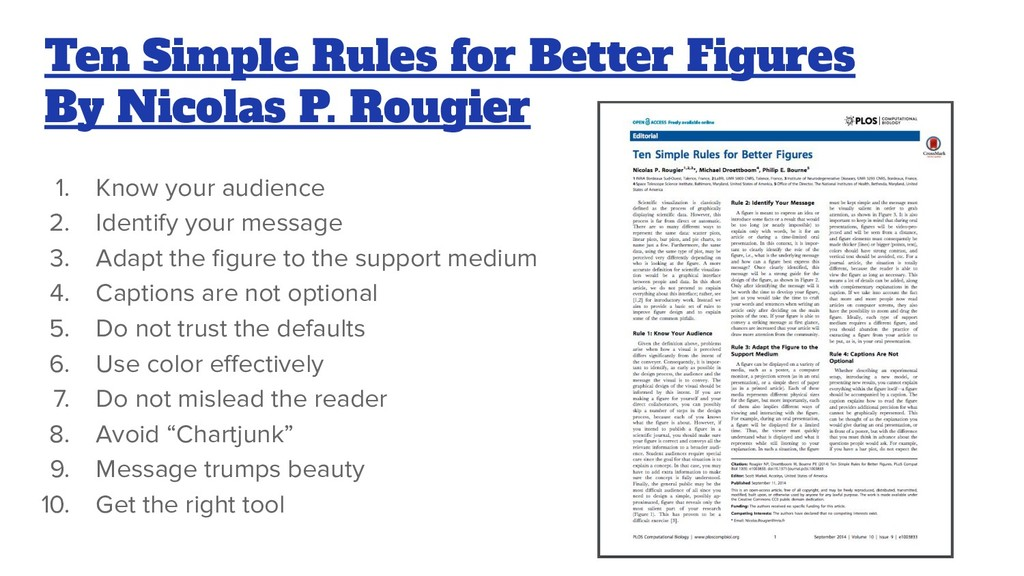 Ten Simple Rules for Better Figures By Nicolas ...