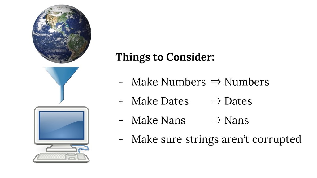 Things to Consider: - Make Numbers ⇒ Numbers - ...
