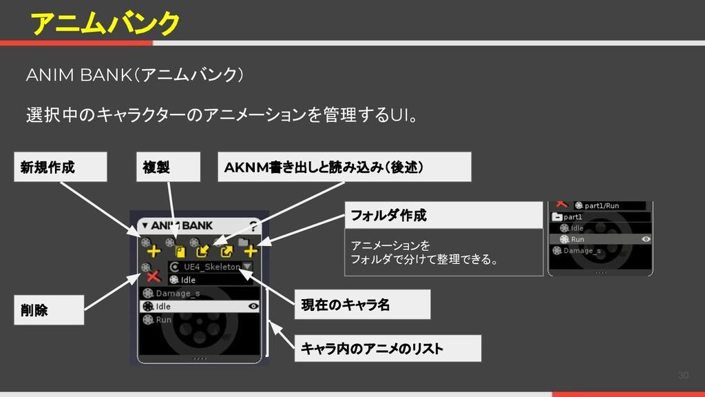 アニムバンク ANIM BANK(アニムバンク) 選択中のキャラクターのアニメーションを管理す...