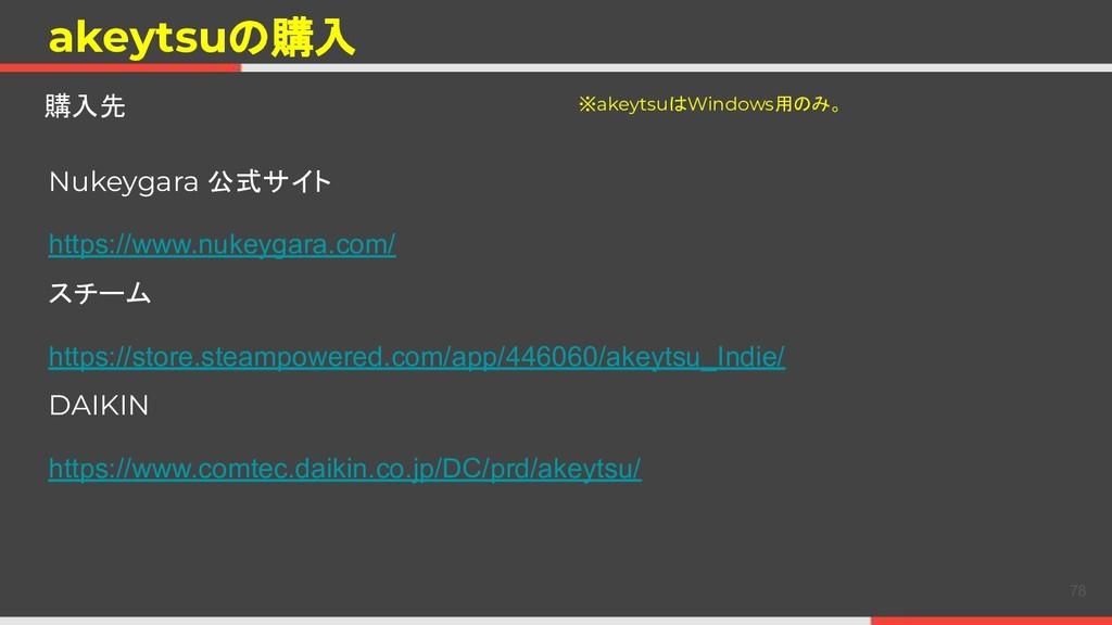 akeytsuの購入 購入先 Nukeygara 公式サイト https://www.nuke...