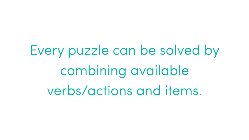 Every puzzle can be solved by combining availab...
