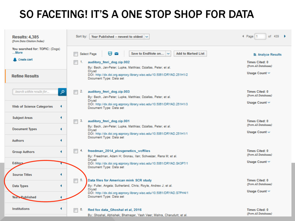 SO FACETING! IT'S A ONE STOP SHOP FOR DATA