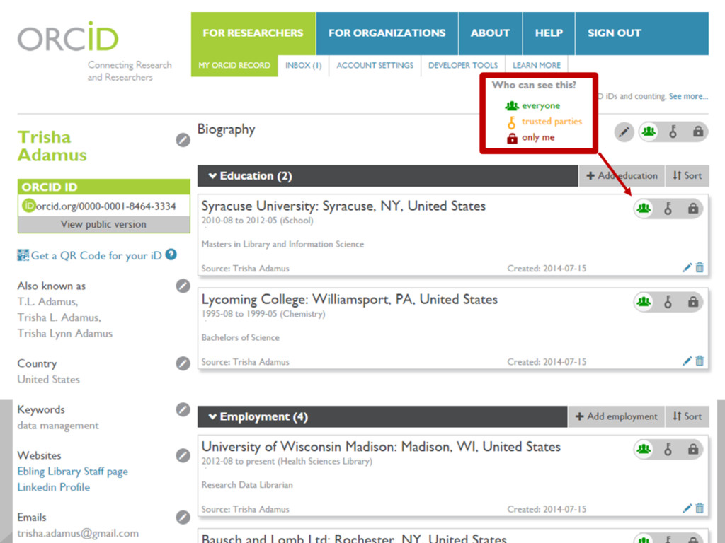 ORCID ID 0000-0001-8464-3334