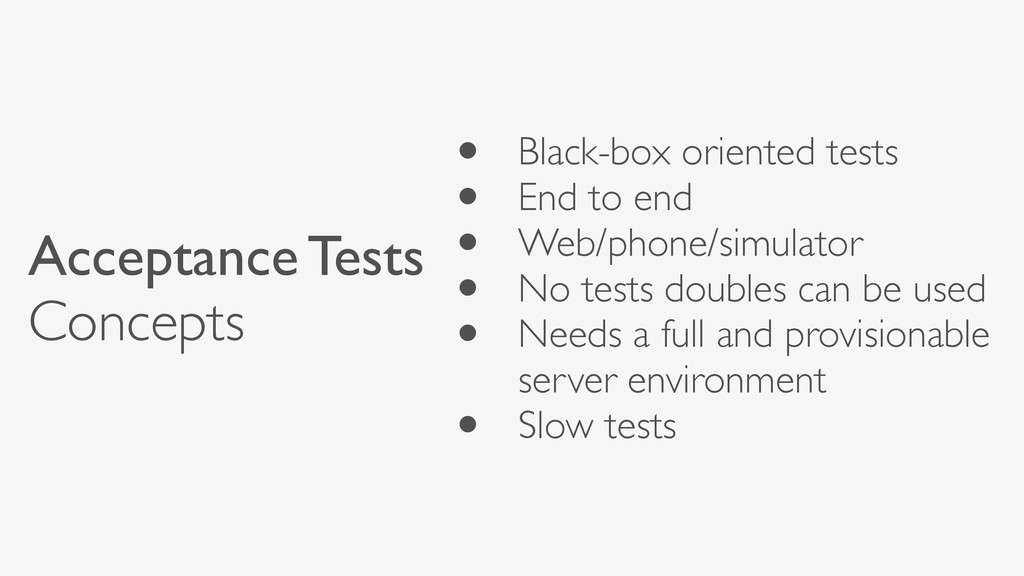 • Black-box oriented tests • End to end • Web/p...