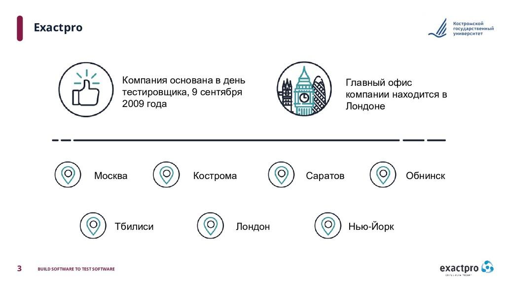 3 BUILD SOFTWARE TO TEST SOFTWARE Exactpro Комп...