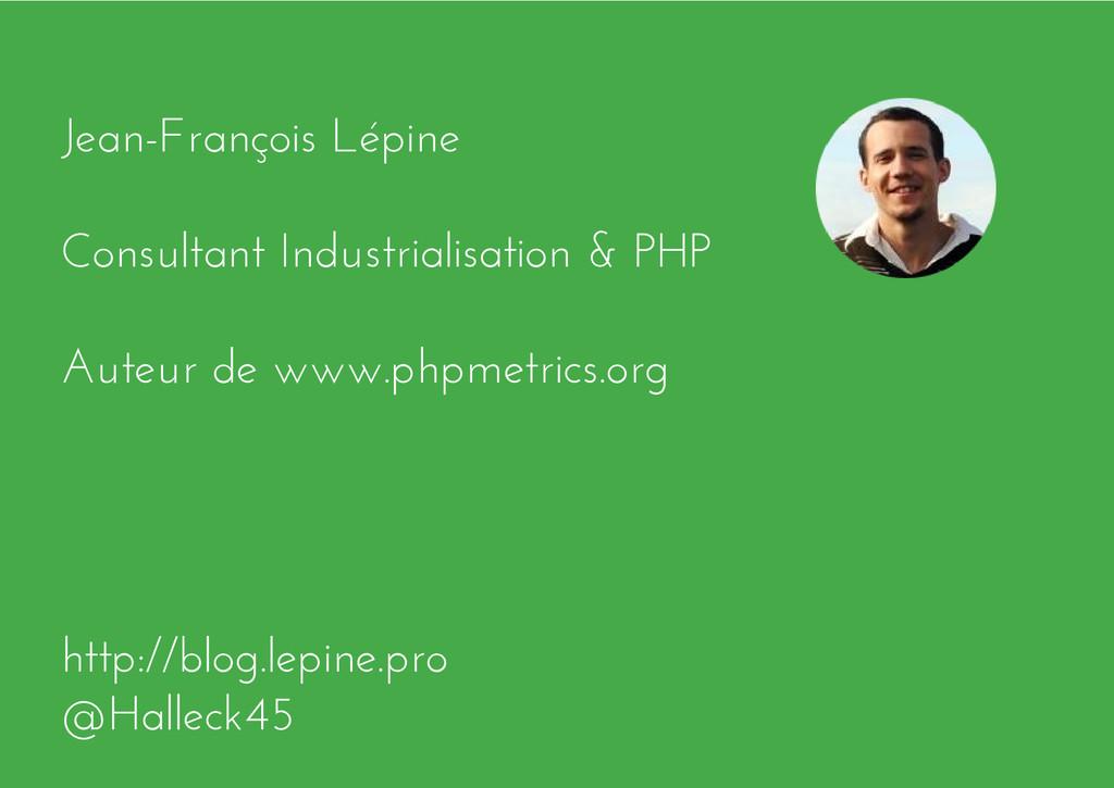 Jean-François Lépine Consultant Industrialisati...