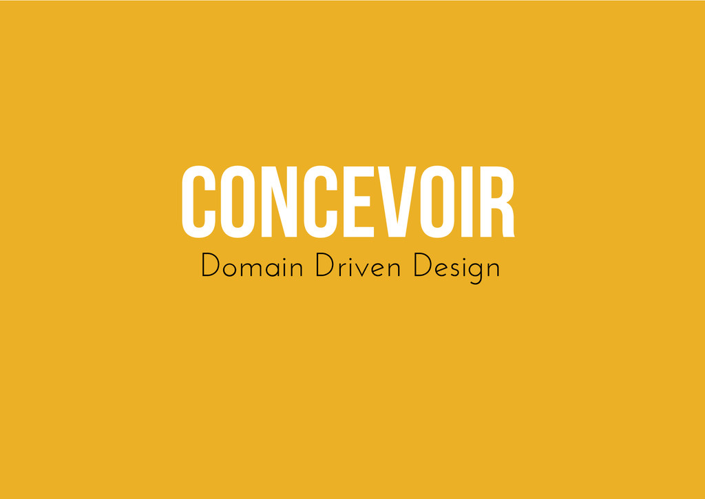 Concevoir Domain Driven Design
