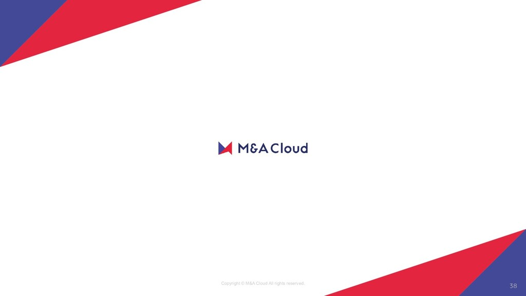 Copyright © M&A Cloud All rights reserved. 38