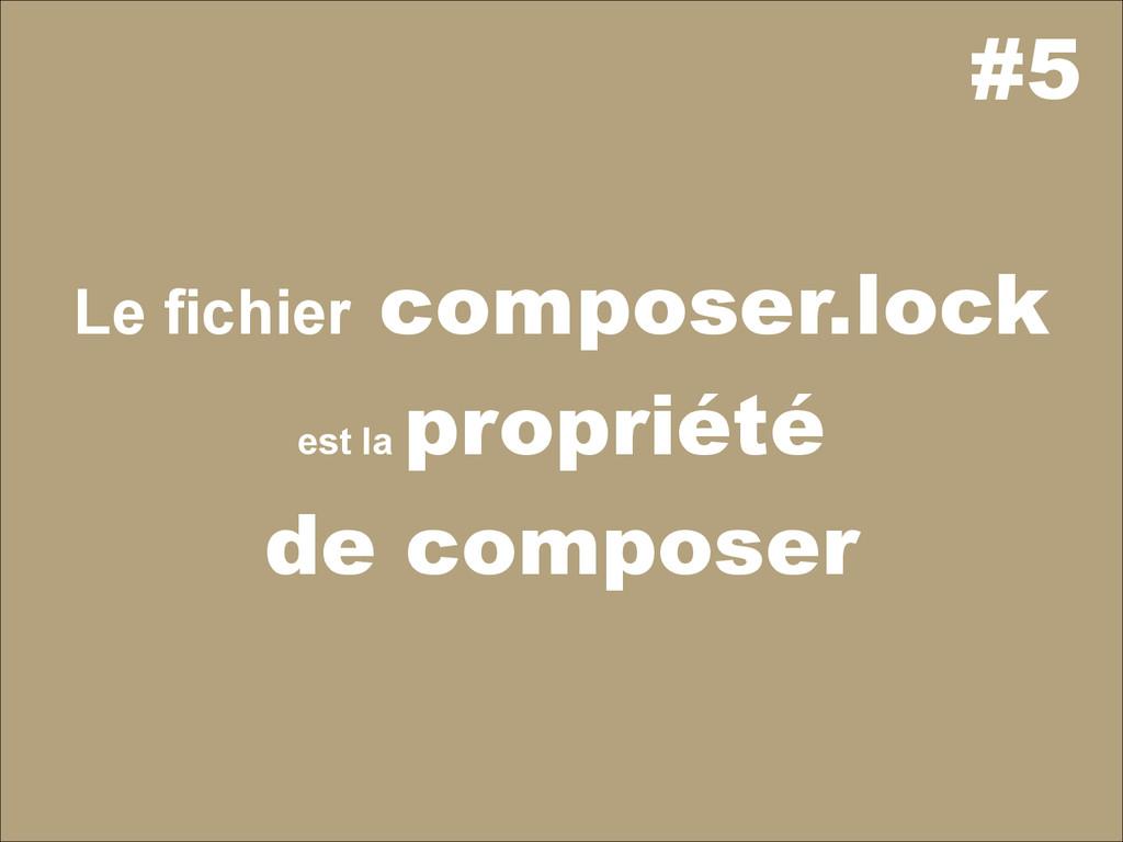 #5 Le fichier composer.lock est la propriété de...