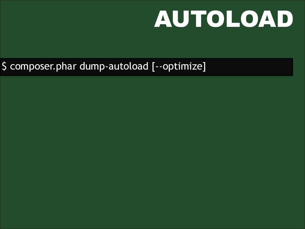 AUTOLOAD $ composer.phar dump-autoload [--optim...