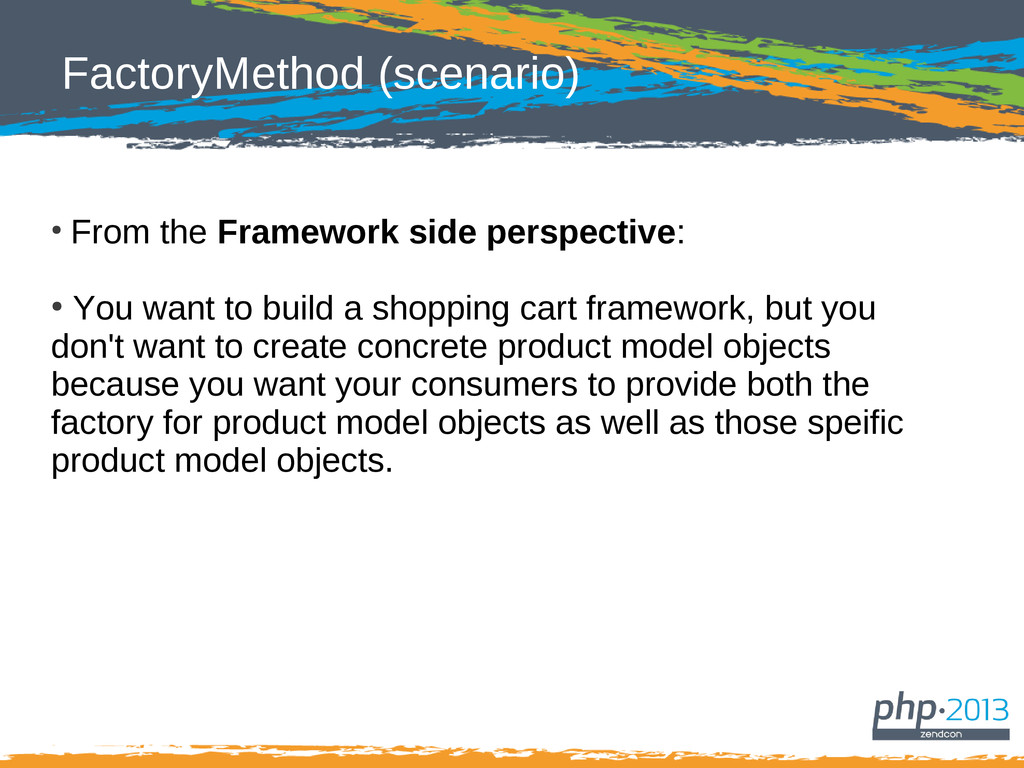 FactoryMethod (scenario) ● From the Framework s...