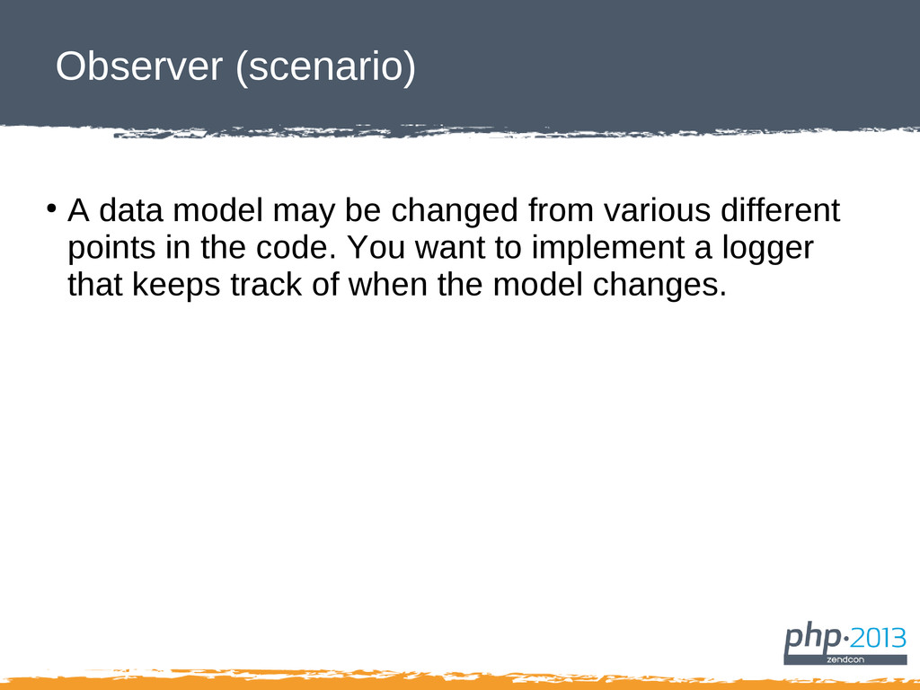 Observer (scenario) ● A data model may be chang...