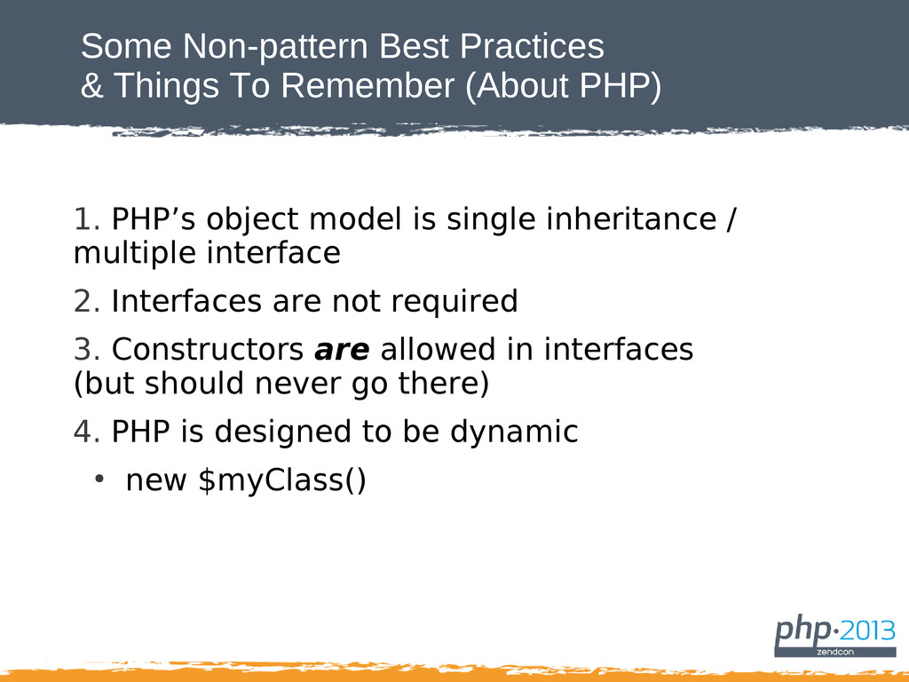 Some Non-pattern Best Practices & Things To Rem...