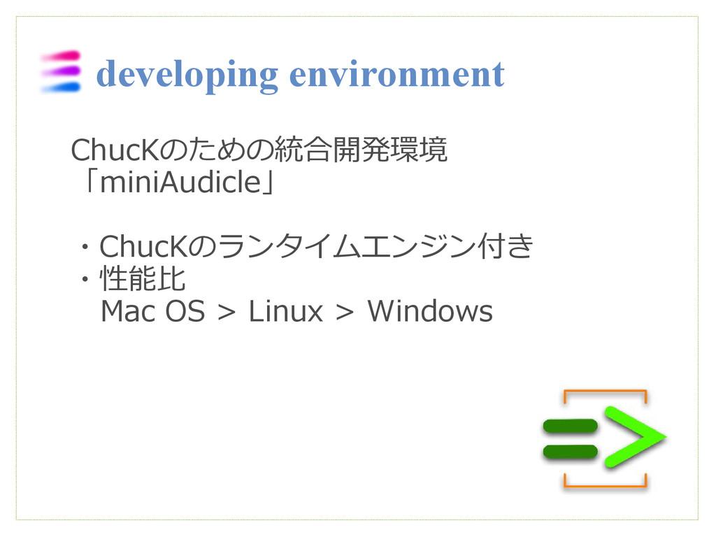 developing environment ChucKのための統合開発環境 「miniAud...