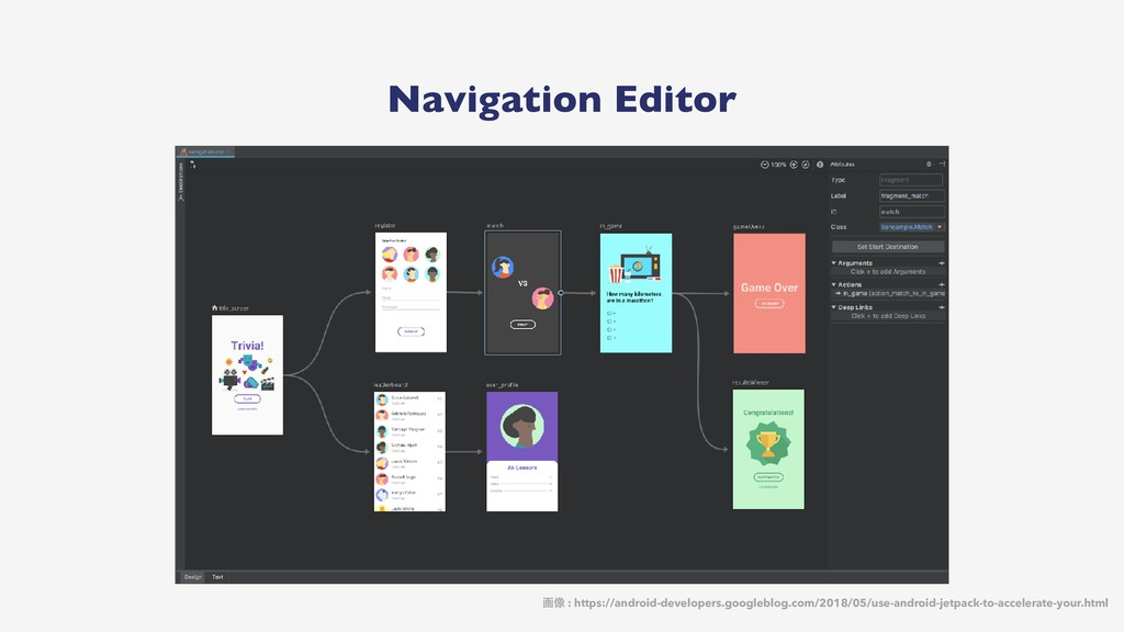 Navigation Editor ը૾ : https://android-develope...