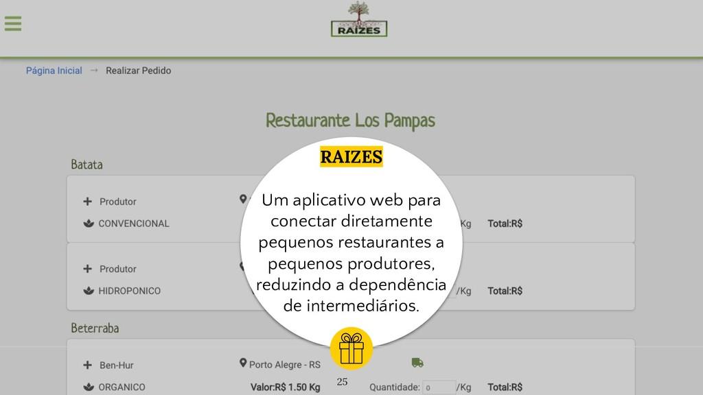 RAIZES Um aplicativo web para conectar diretame...