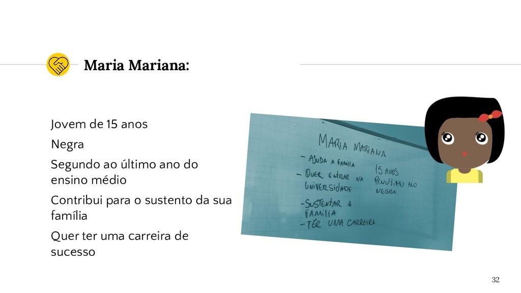 Maria Mariana: Jovem de 15 anos Negra Segundo a...