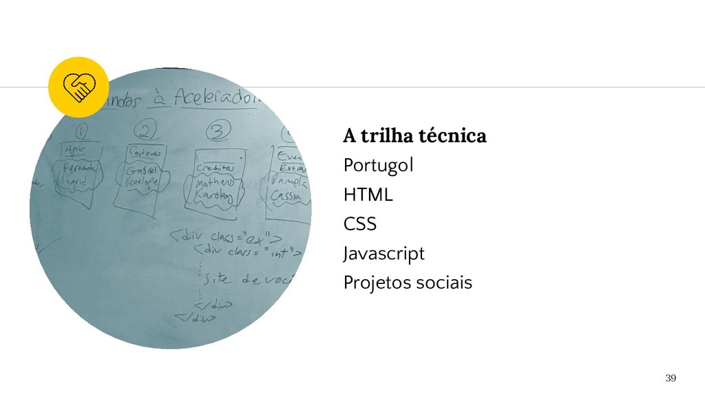 A trilha técnica Portugol HTML CSS Javascript P...