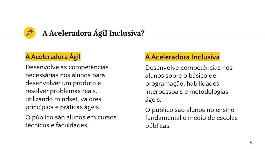 A Aceleradora Inclusiva Desenvolve competências...