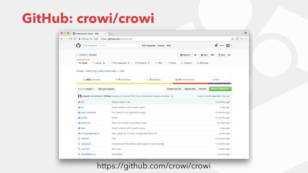 GitHub: crowi/crowi https://github.com/crowi/cr...