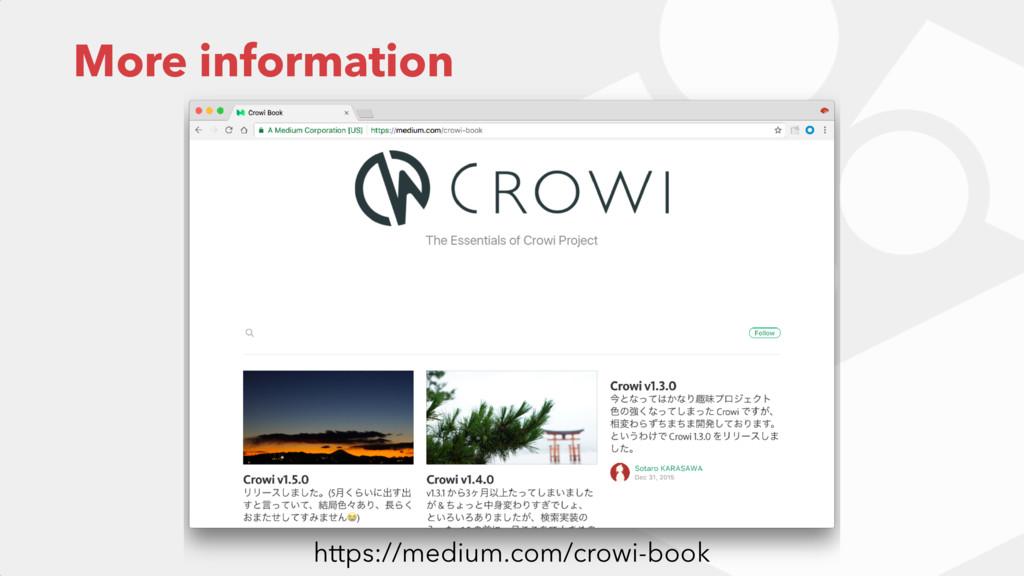 More information https://medium.com/crowi-book