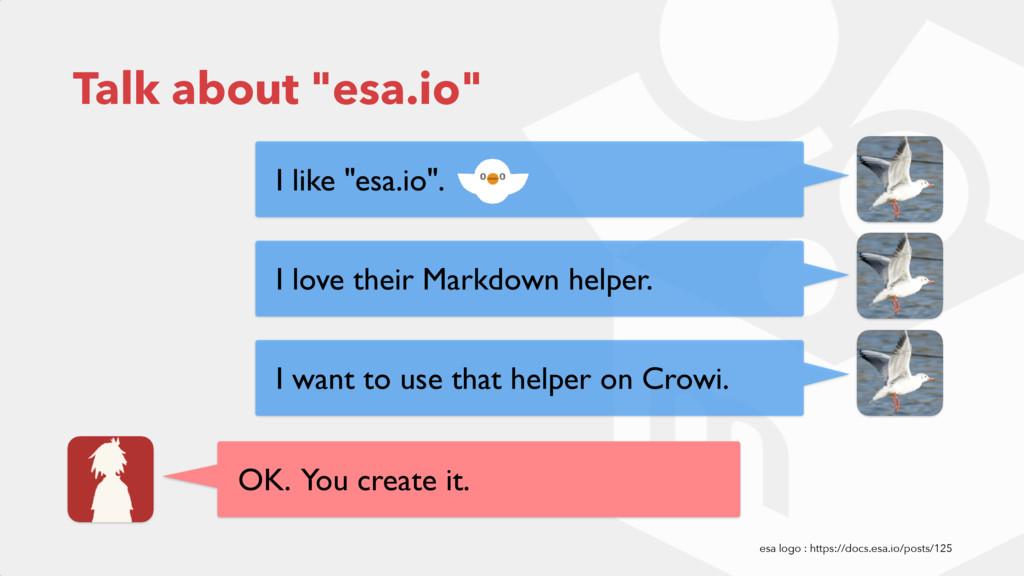 """Talk about """"esa.io"""" I like """"esa.io"""". I love the..."""