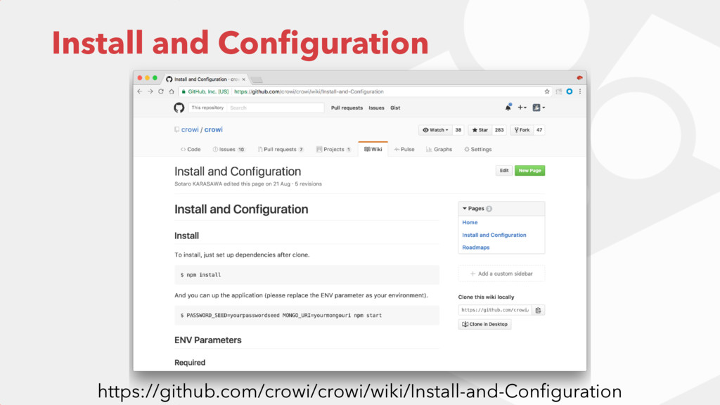 Install and Configuration https://github.com/cro...