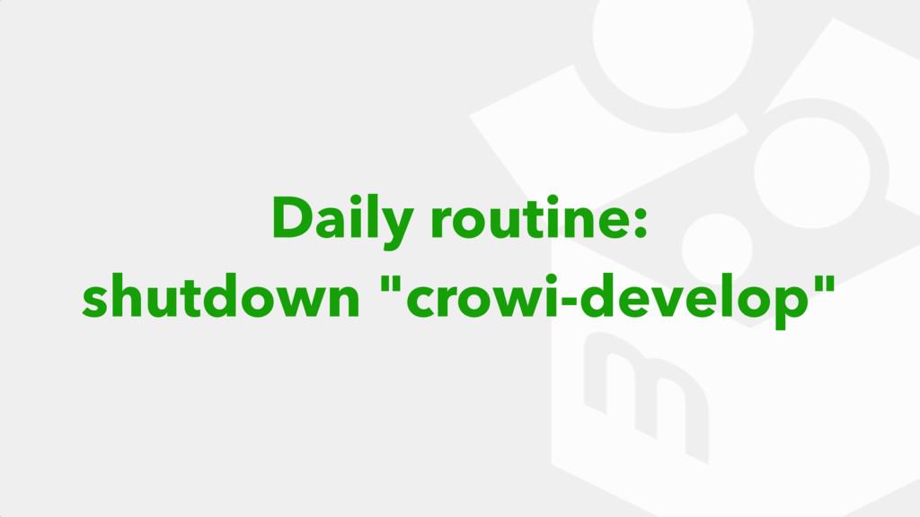 "Daily routine: shutdown ""crowi-develop"""