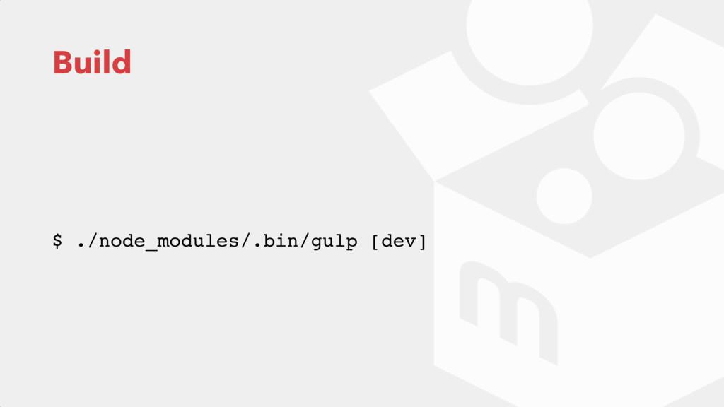 Build $ ./node_modules/.bin/gulp [dev]
