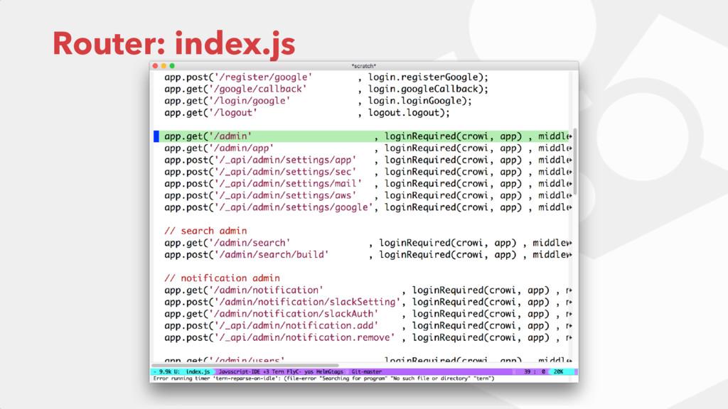 Router: index.js